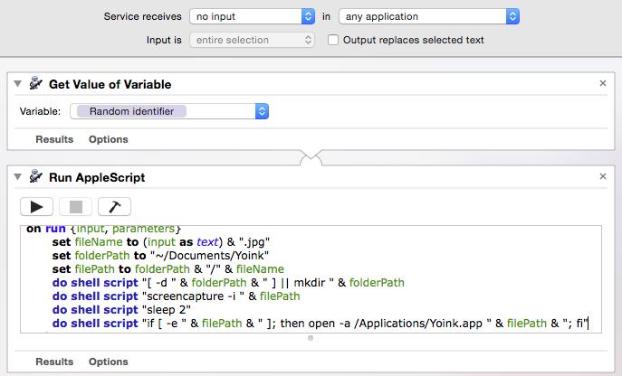 Automator Workflow Screenshot