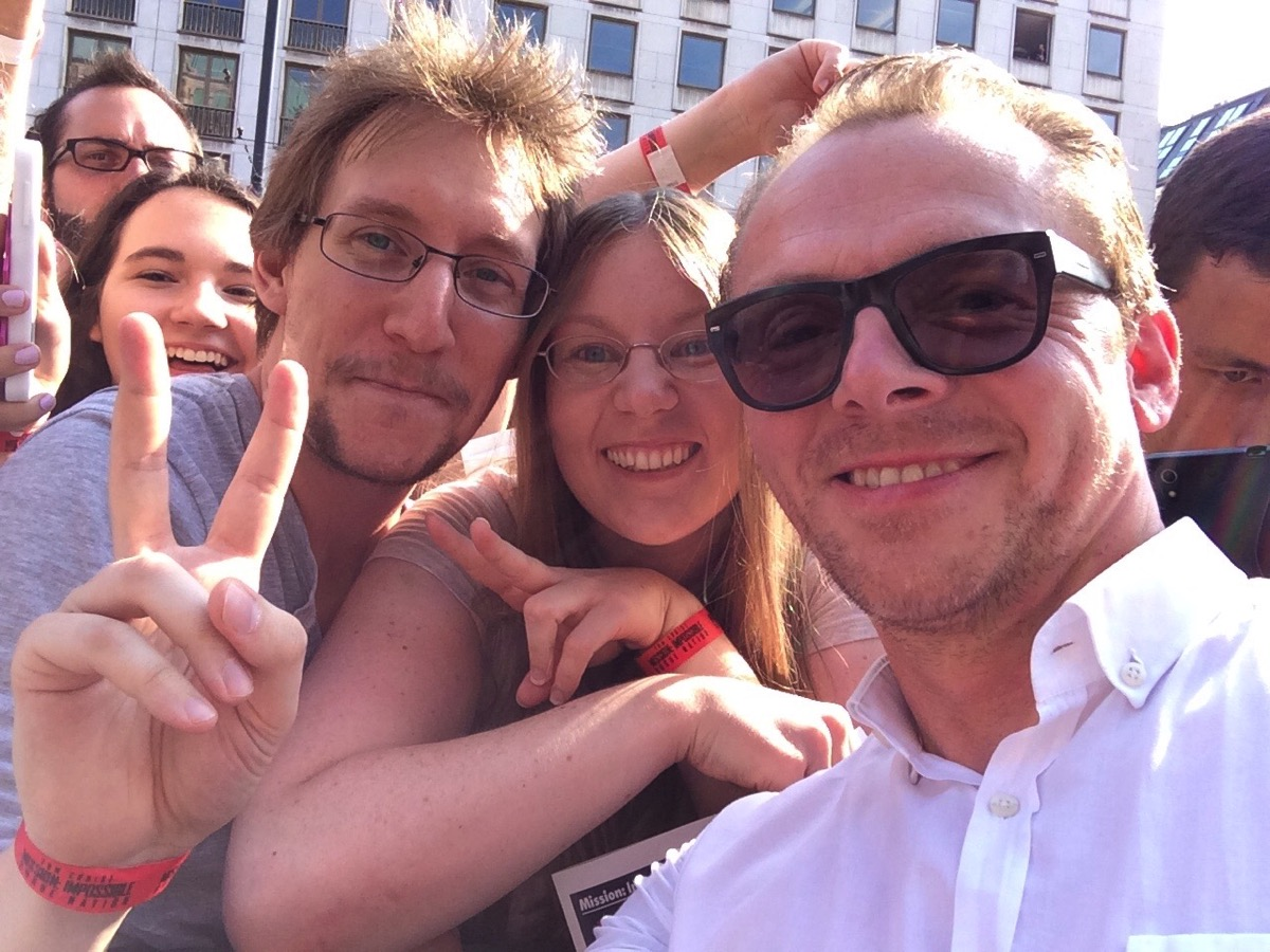 Us and Simon Pegg at the World Premiere in Vienna