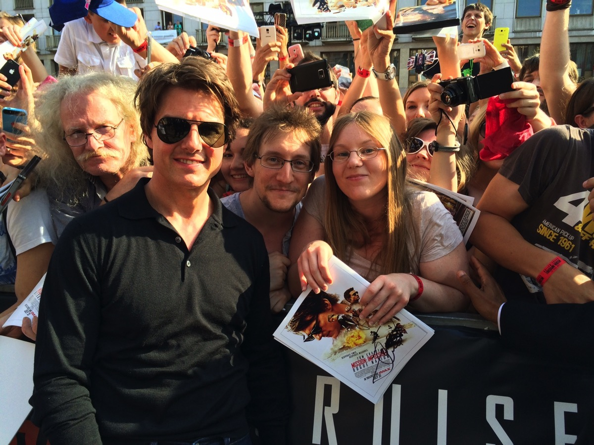 Us and Tom Cruise at the World Premiere in Vienna