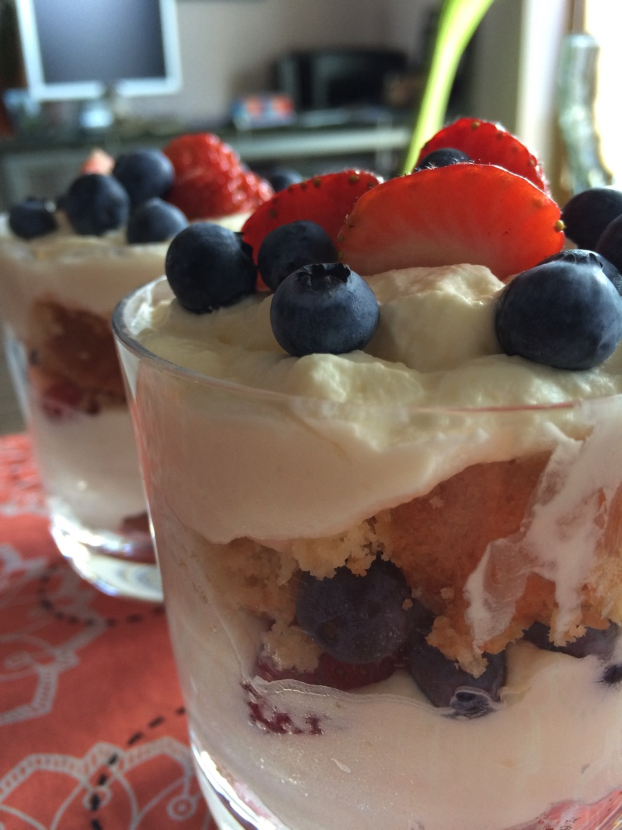 Lemon Curd Berry Trifle