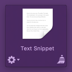 Text Snippet in Yoink