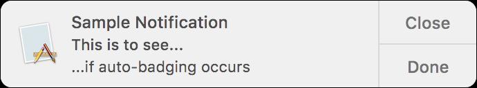 NSUserNotification Notification