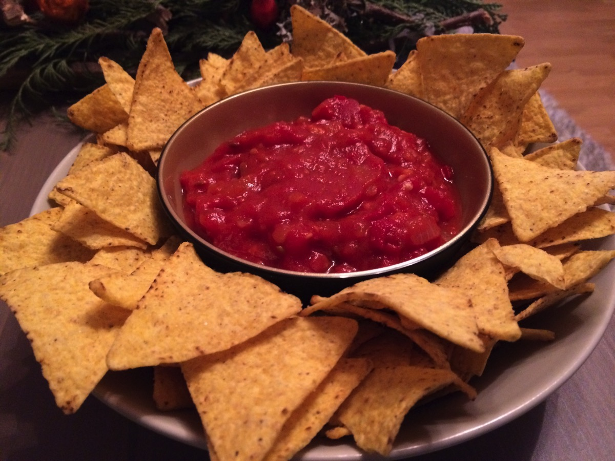 Nachos with self-made Salsa