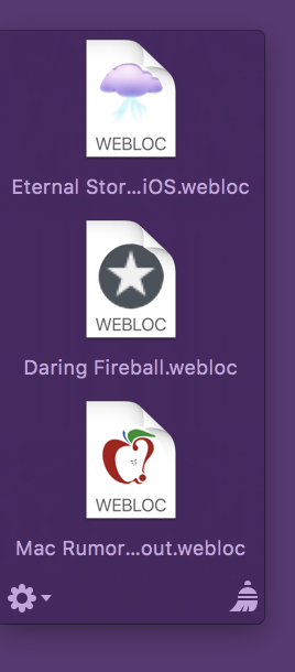 Yoink with webloc files with favicons