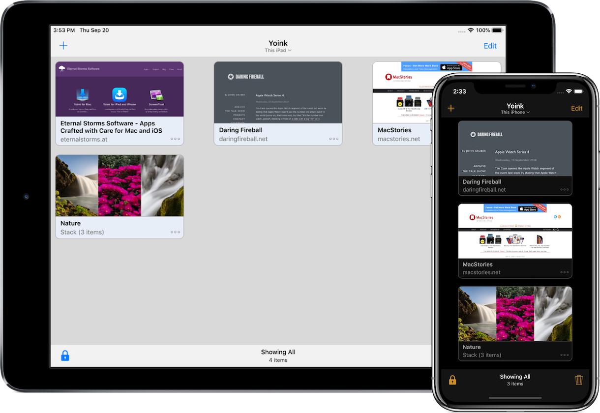 Yoink for iPad and iPhone - Simplify and Improve Drag and Drop